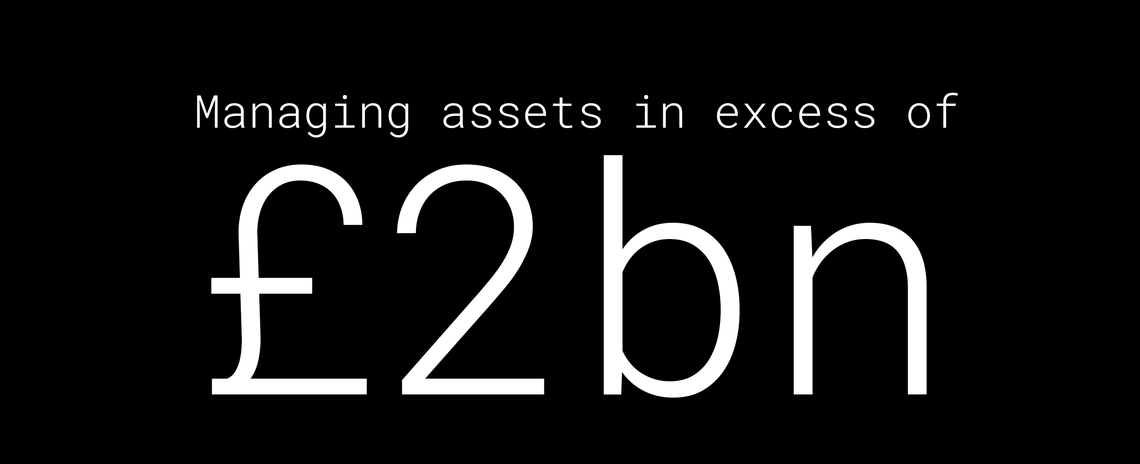 Managing assets in excess of £2bn