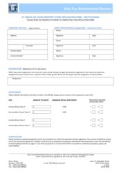 Main Fund - Institutional Application Form