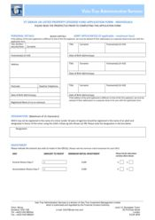 Feeder Fund - Individual Application Form