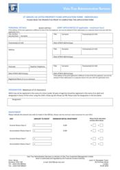 Main Fund - Individual Application Form
