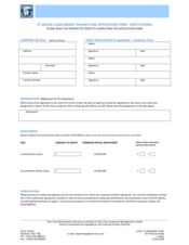 Institutional Application Form