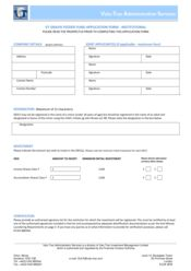 Feeder Fund - Institutional Application Form