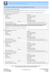 Feeder Fund - ISA Application Form